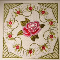 Circular Rose One SINGLE 8 x 8