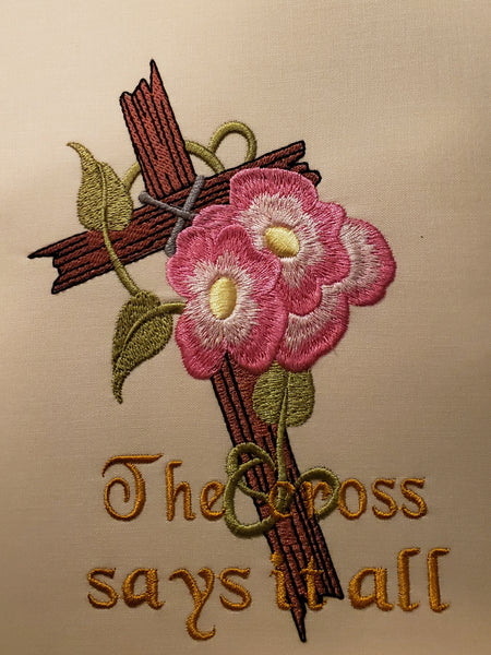 The cross says it all 3.5 x 4.5