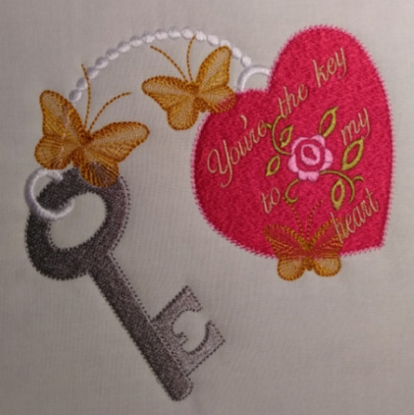 Your the key to my heart 6 x 6