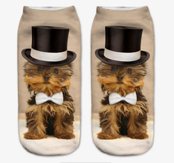 Women's Small/Kids 3D Print Dog Socks