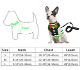 Bow-tie Tuxedo Dog Harness & Leash