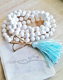 "The ""KinoYoga""  White Shell Truth & Purity Mala by Open Heart Warrior"