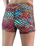 Rainbow Snakeskin Shorts by OMSTARS