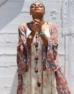 Sahara Clay Kimono by Daughters of Culture