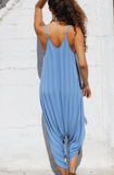 Celestial Blue Knit Folklore Jumpsuit