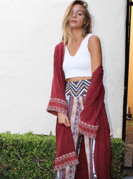 Wanderlust Robe in Maroon