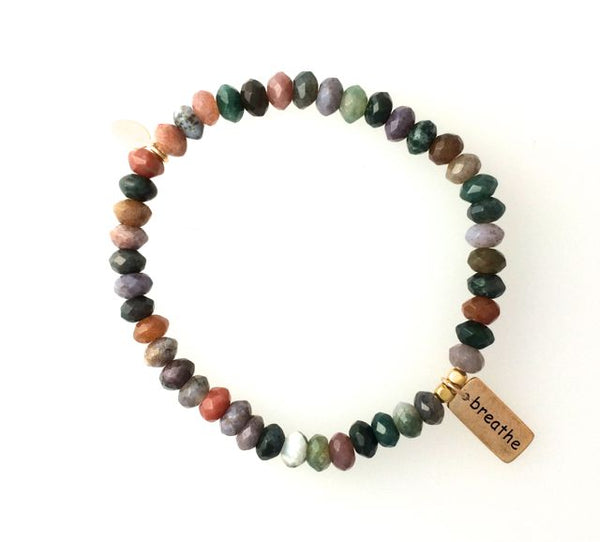 Fancy Jasper Breathe Bracelet by Omisha Designs