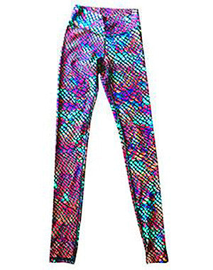 Rainbow Snakeskin Leggings by OMSTARS