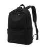 Karitco Basic Plain Canvas Laptop Backpack with Brass Zipper Black