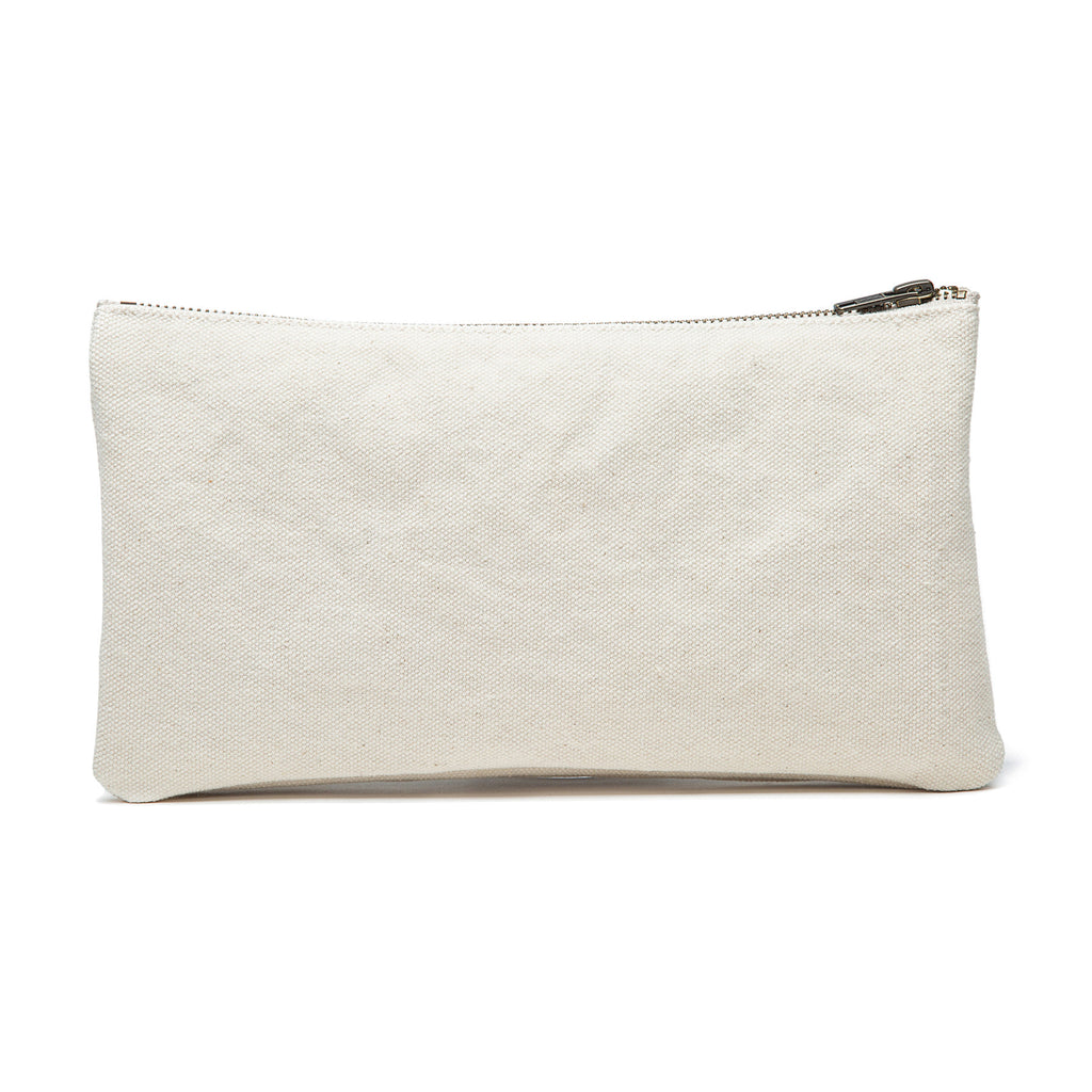 Karitco Cotton Canvas Make Up Bag with Brass Zipper (Folded)