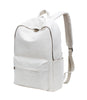 Karitco Basic Plain Canvas Laptop Backpack with Brass Zipper Beige