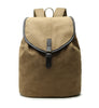 Karitco Cotton Canvas with Leather Casual Rucksack (Beige)
