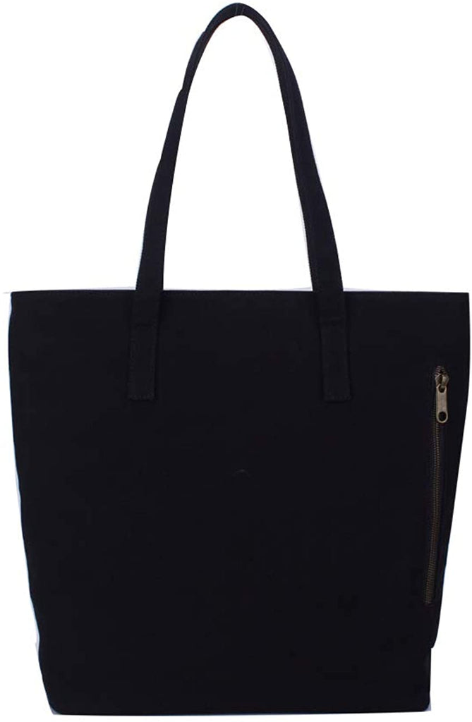 Commuter Tote Bag Tote Purse Shopper Shopping Tote Bag Shoulder Bag with Zipper Pockets for Women Work Travel