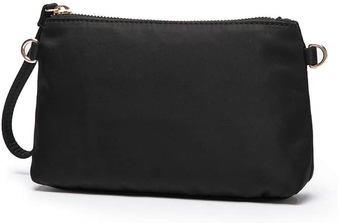 Nylon makeup simple and convenient handbag Han Chao ins wind super fire small exquisite fashion storage bag (Black)