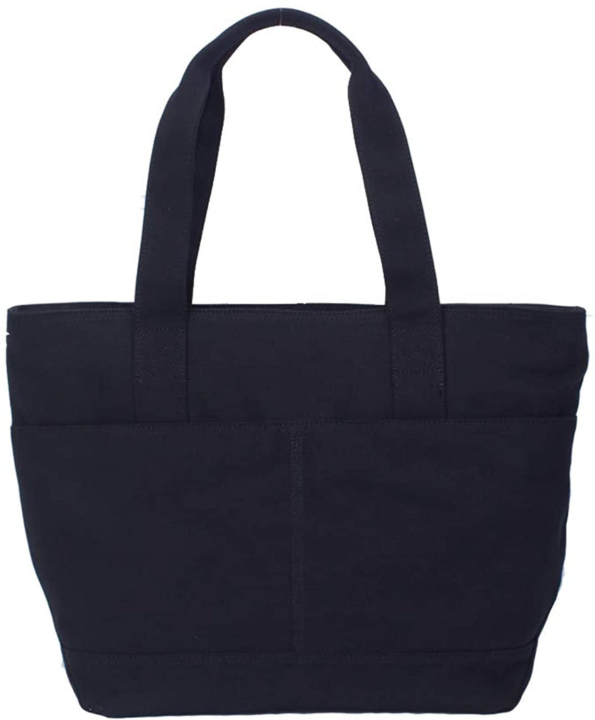 Heavy Duty Shoulder Bag Large Canvas Laptop Tote Shoulder Work Tote Bag (Black)