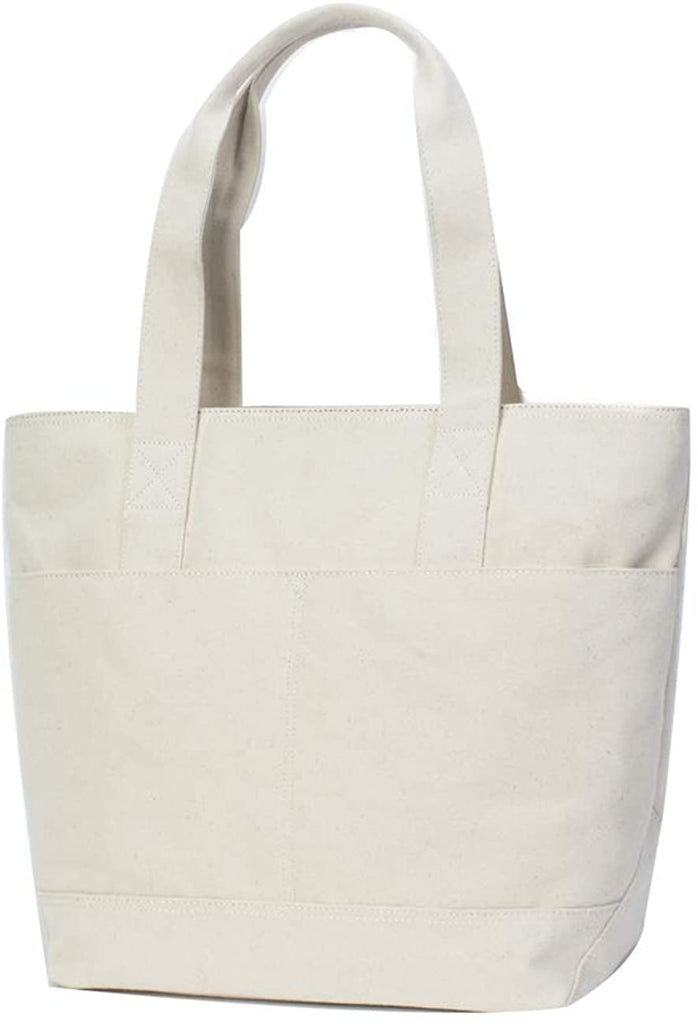 Shopper Tote Bag Canvas Family Summer Beach Tote Bag Pool Bag Carry All Tote Hobo Style