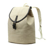 Karitco Cotton Canvas with Leather Casual Rucksack (Ivory)