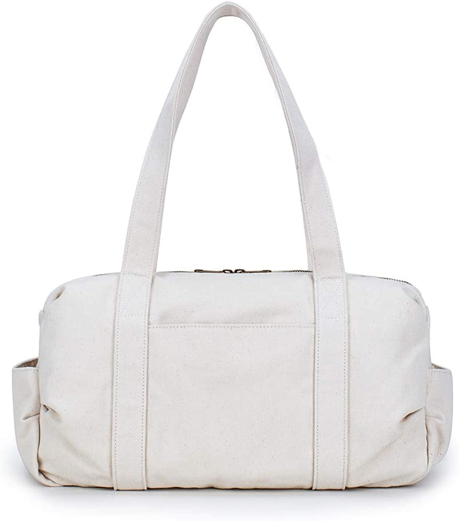 Essentials Casual Shoulder Bags Multi Pockets Lightweight Handbag-Karitco (Beige)