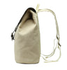 Karitco Cotton Canvas with Leather Casual Rucksack (Khaki)
