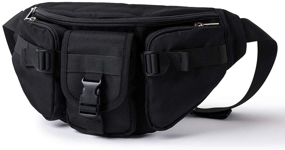 Sling Bag Multipurpose Daypack Shoulder Chest Crossbody Bag Black