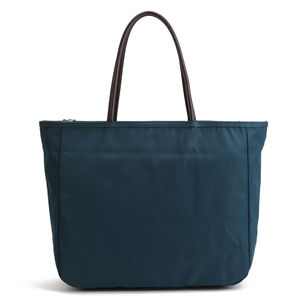 Karitco Plain Waterproof Nylon Tote with Top Handles (Ink Green)