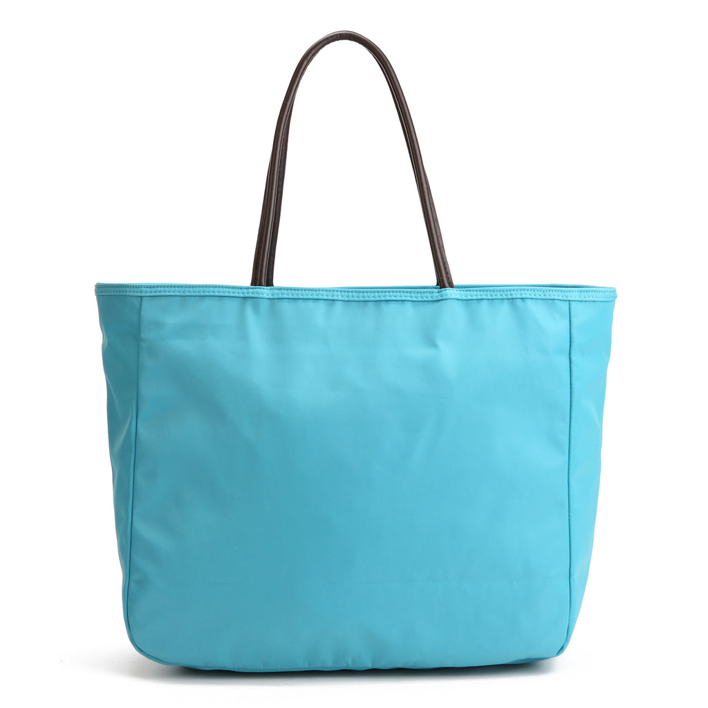 Karitco Plain Waterproof Nylon Tote with Top Handles (Light Blue)