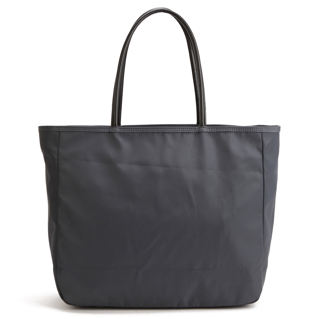 Karitco Plain Waterproof Nylon Tote with Top Handles (Dark Grey)