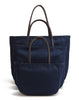 Karitco Plain Waterproof Nylon Tote with Top Handles (Navy Blue)