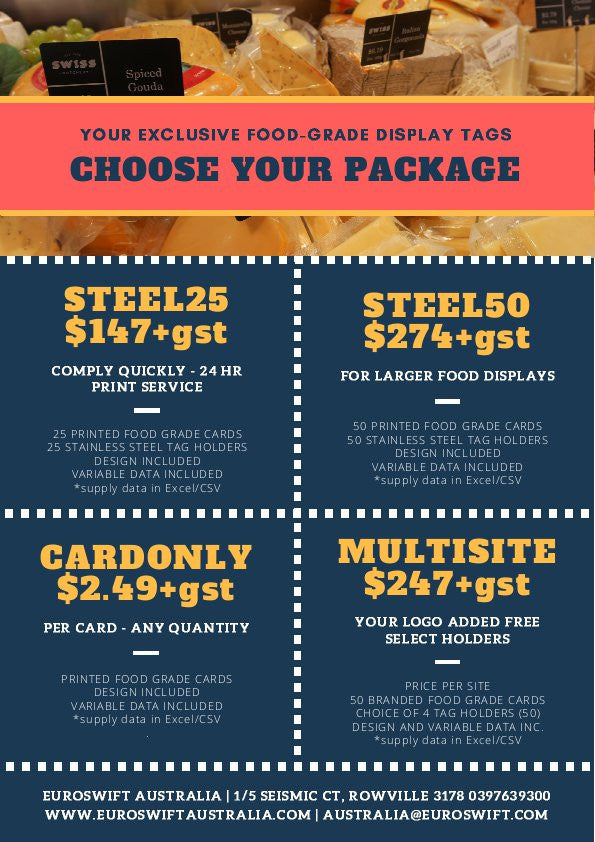 Euroswift Food Ticket Packages