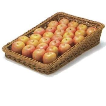 Polywicker basket fresh produce display retail shelf