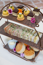 Load image into Gallery viewer, Dalebrook Copper Afternoon Tea Stand - Rustic Wood Effect Platters Set TS3000RW