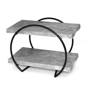 Dalebrook TB3500 Black Mini Circular Buffet Display Stand with Urban Slab