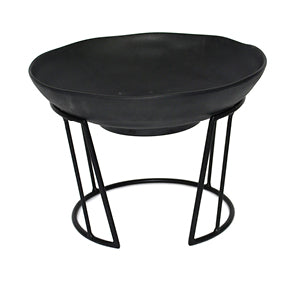 Dalebrook TB3500 Black Mini Circular Buffet Display Stand with Bowl