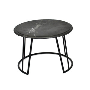 Dalebrook TB3500 Black Mini Circular Buffet Display Stand with Carrara Platter