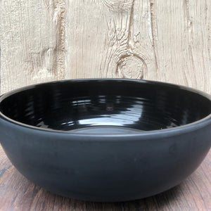 Dalebrook Black Matt Melamine Ribbed Bowl TB1013M