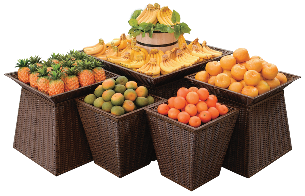 Square Plastic Basket Display