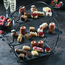 Load image into Gallery viewer, dalebrook TB3000b black afternoon high tea stand euroswift