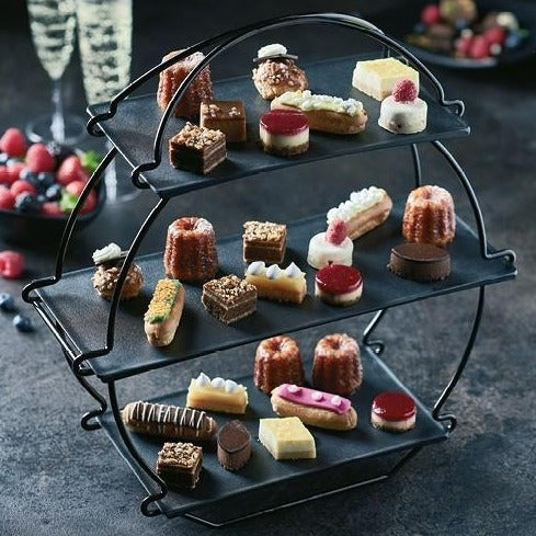 Black Afternoon Tea Stand with Platters Set - Dalebrook