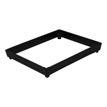 Dalebrook TB3412 Black Melamine Crate Riser for Food Buffet Counter