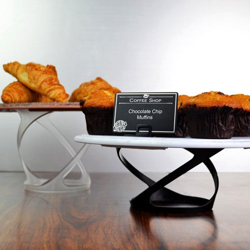 Twist Risers with Platters