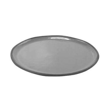 Marl Extra Large Melamine Round Shallow Display Serving Dish - Dalebrook