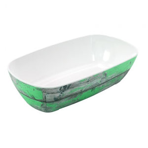 Dalebrook Tura TWD7713TL Melamine Curved Buffet Display Serving Crock Bowl