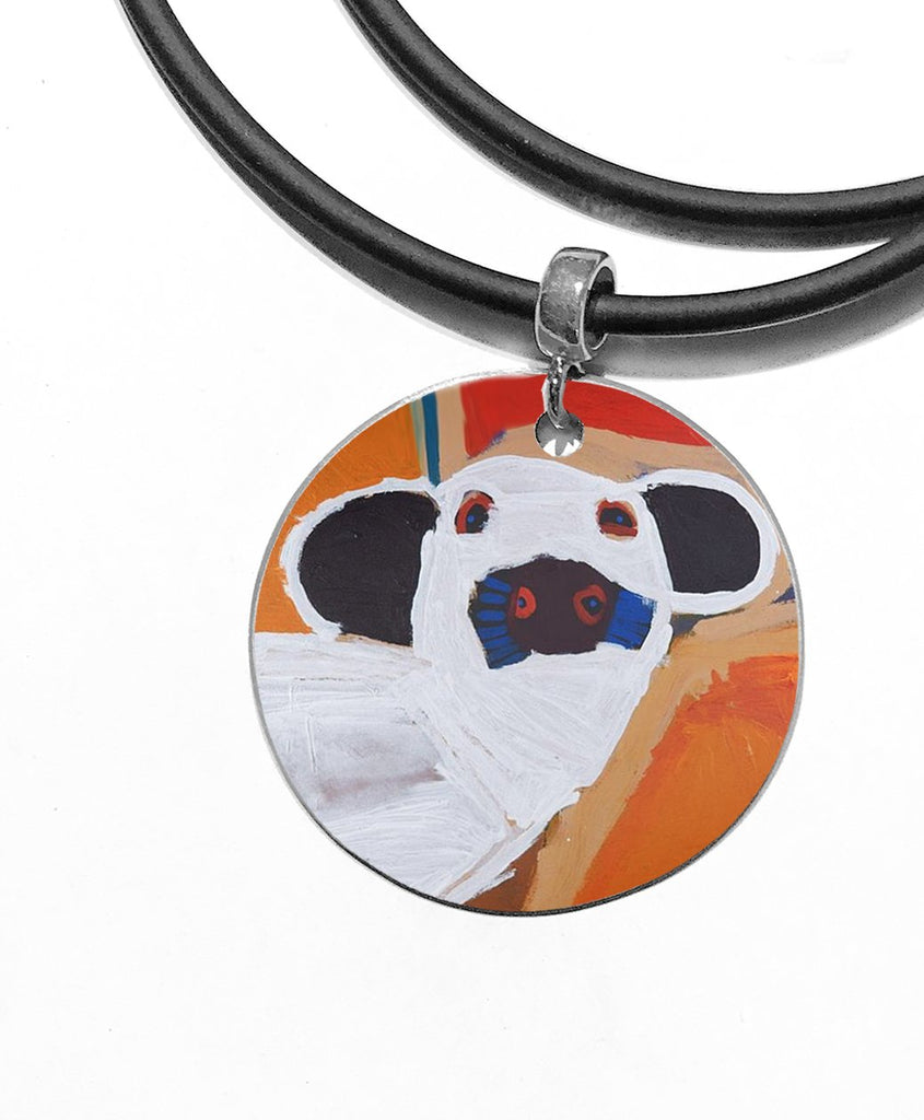 ARTIST Karen Napaljarri Barnes Dogs Of Yuendumu Desert Dogs Program Indigenous jewellery jewelry dog tag pendant