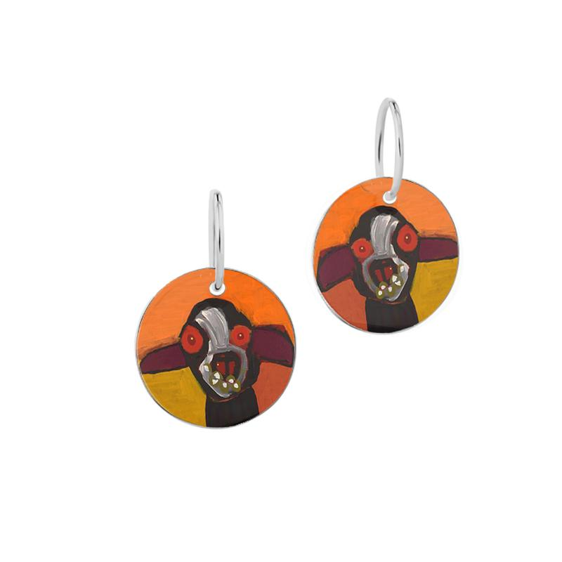 ARTIST Karen Napaljarri Barnes Dogs Of Yuendumu Desert Dogs Program Indigenous jewellery jewelry earrings dog tag