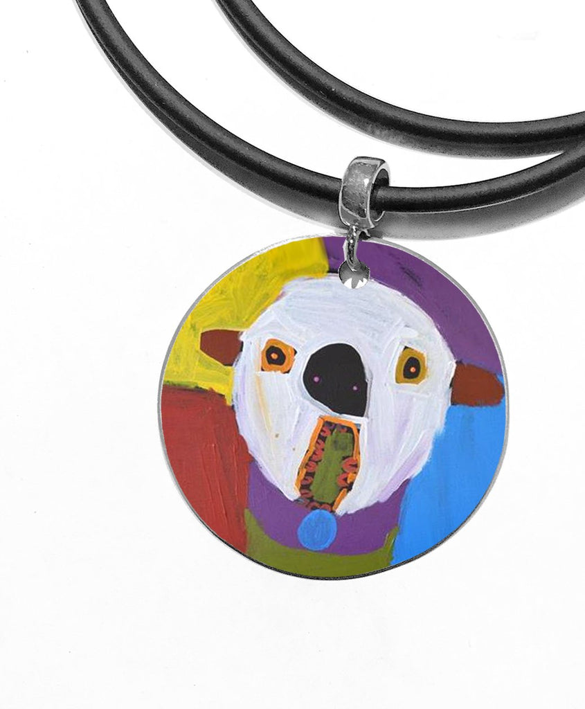 ARTIST Karen Napaljarri Barnes Dogs Of Yuendumu Desert Dogs Program Aboriginal jewellery jewelry dog tag pendant