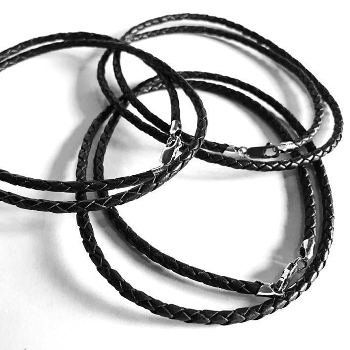 Occulture Braided Leather Cord Black