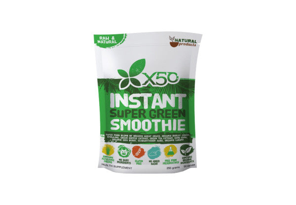 X50 Instant Super Green Smoothie 250gms