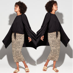 Bamboo-the Long Whitney Tube Skirt