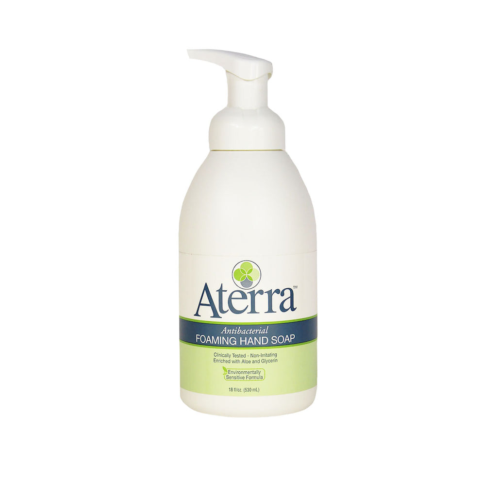 Aterra Antibacterial Foaming Hand Soap, 18 fl. oz. bottle