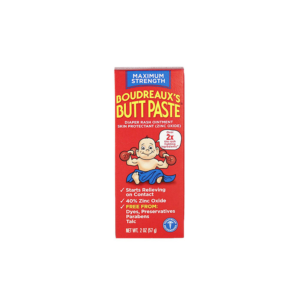Boudreaux's Butt Paste Maximum Strength Diaper Rash Ointment & Skin Protectant, 2 oz. tube